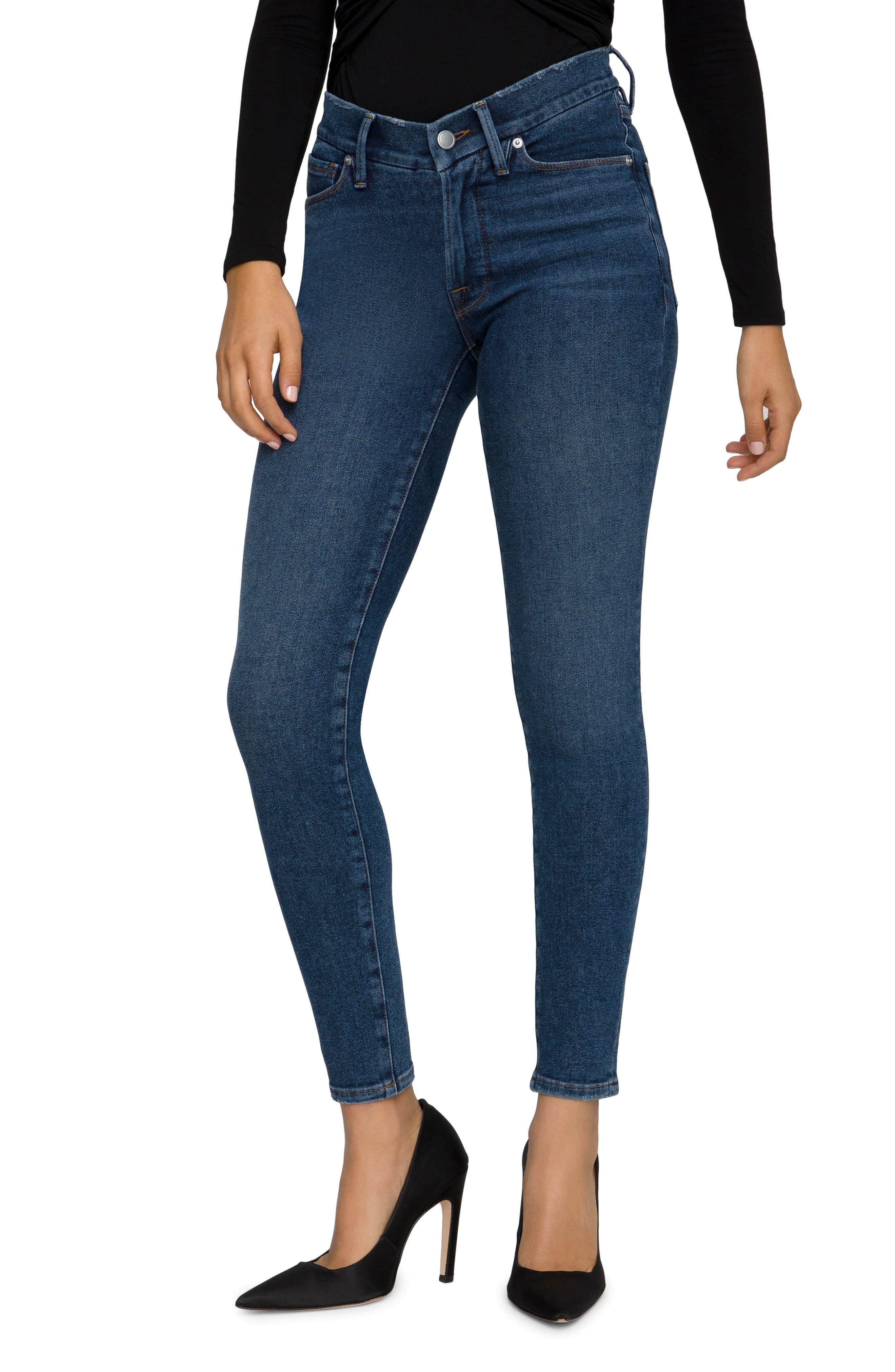 Women's Good American Good Legs Low Rise Ankle Skinny Jeans