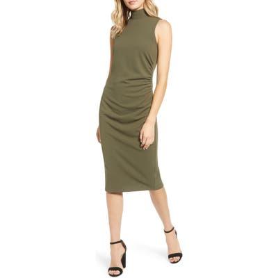 Chelsea28 Mock Neck Sheath Dress, Green