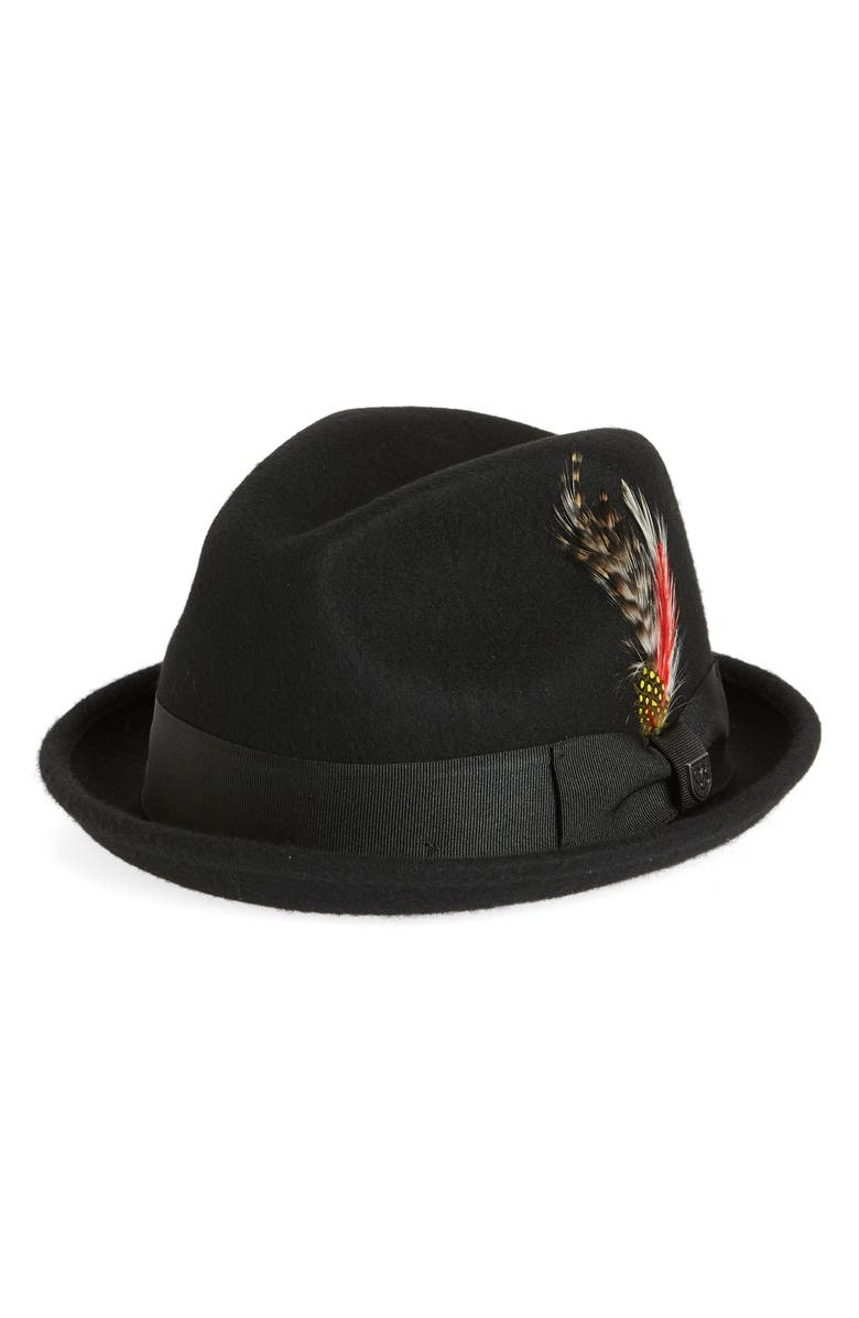 BRIXTON Gain Trilby Hat, Main, color, 001