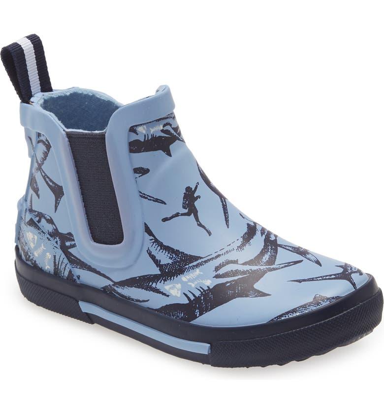 JOULES Rainwell Waterproof Rain Boot, Main, color, BLUE SHARKS
