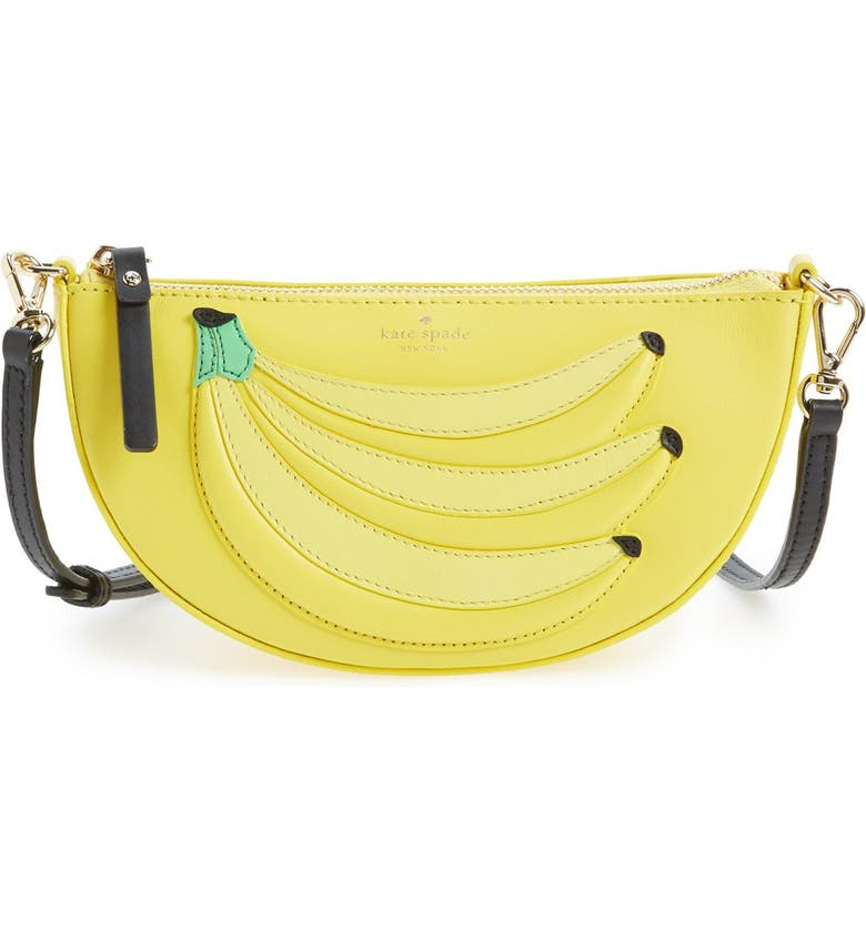 KATE SPADE NEW YORK 'flights of fancy - bananas' crossbody bag, Main, color, 700