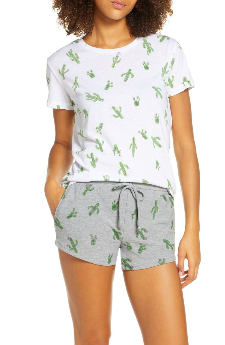 CHASER Cactus Season Graphic Tee, Main, color, WHITE