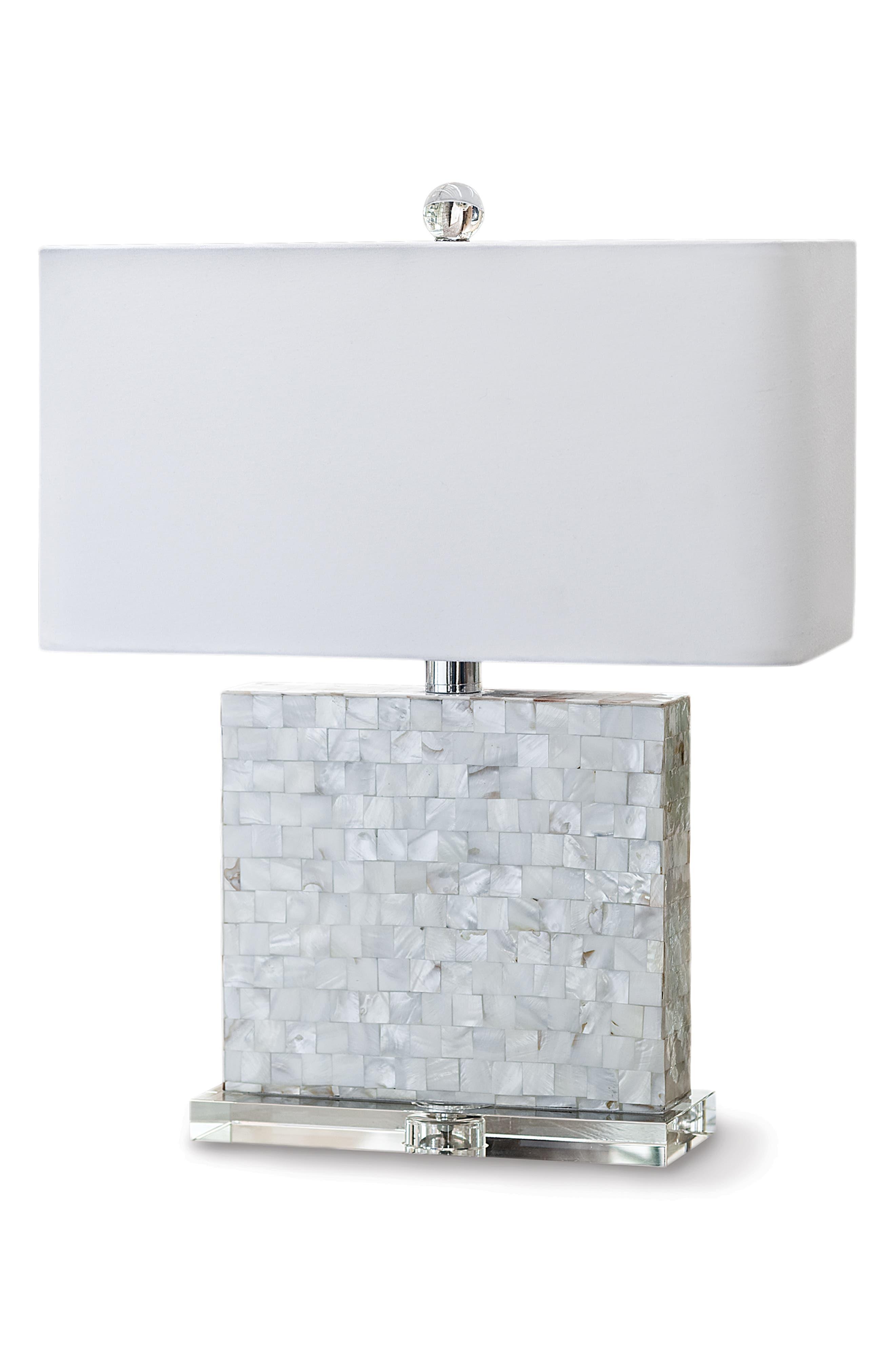 Regina Andrew Design Bliss MotherOfPearl Table Lamp Size One Size  Metallic