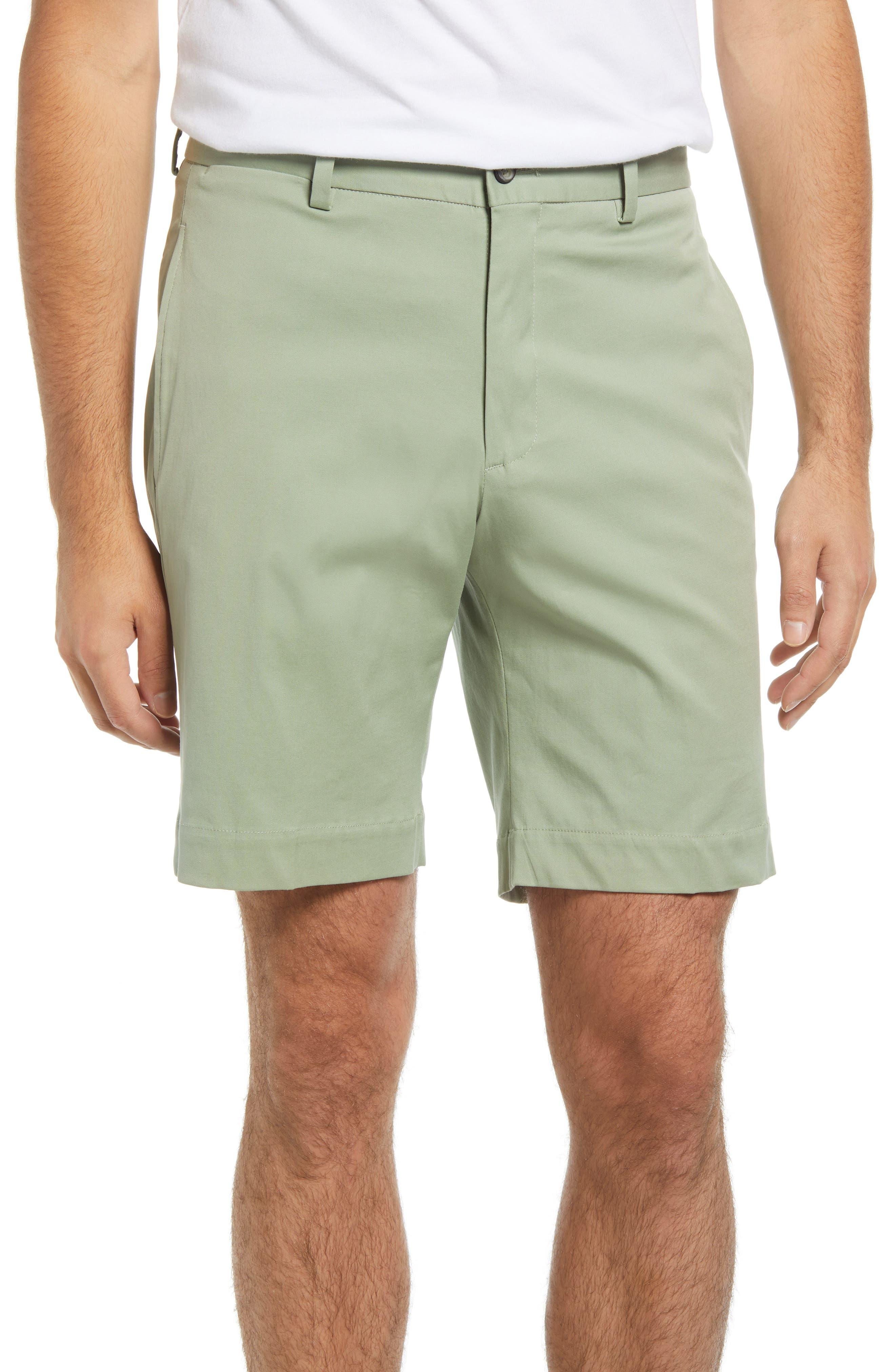 Charleston Flat Front Stretch Twill Shorts