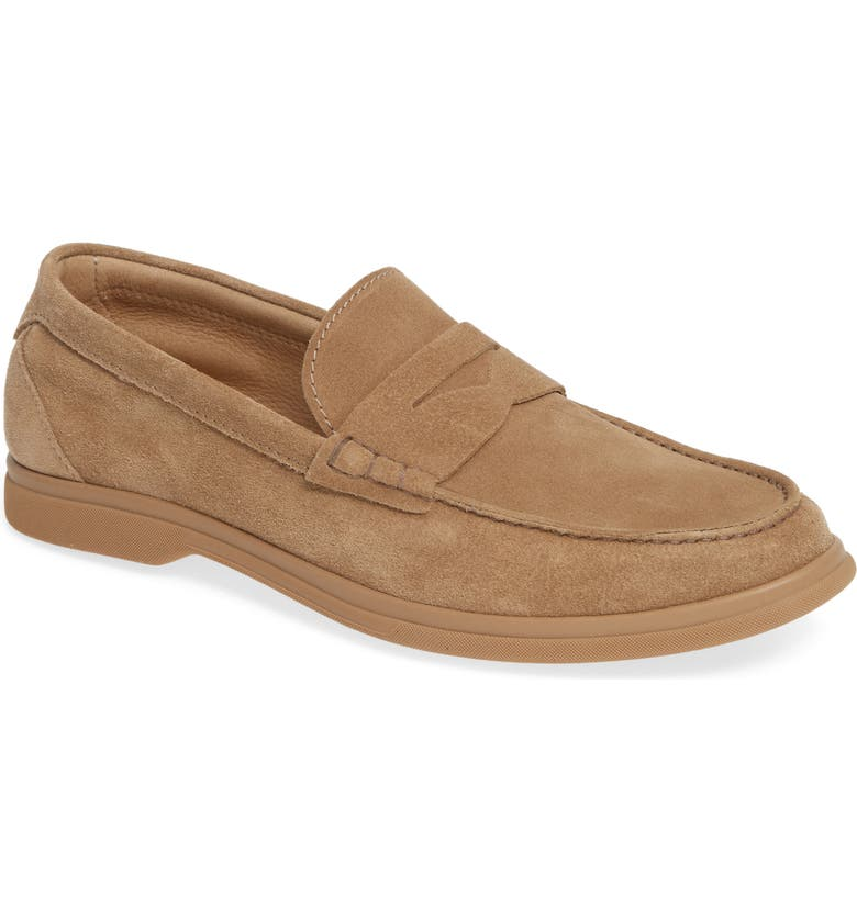 BRUNELLO CUCINELLI Penny Loafer, Main, color, LIGHT BROWN