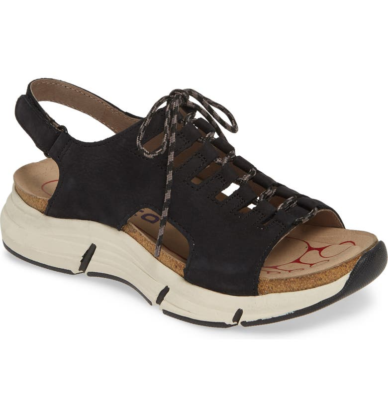 BIONICA Ormond Sport Sandal, Main, color, BLACK NUBUCK LEATHER