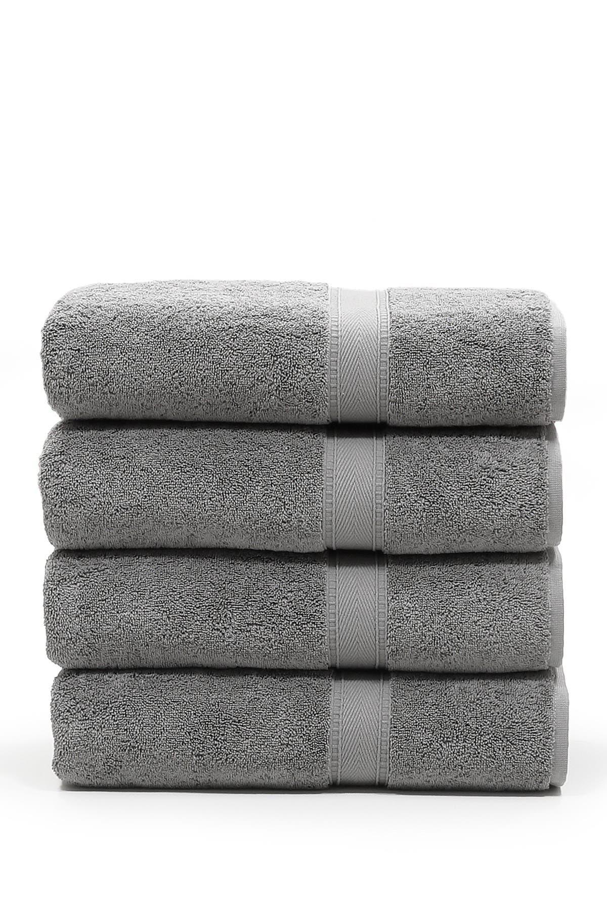 Image of LINUM TOWELS Sinemis Terry Bath Towels - Set of 4 - Dark Grey