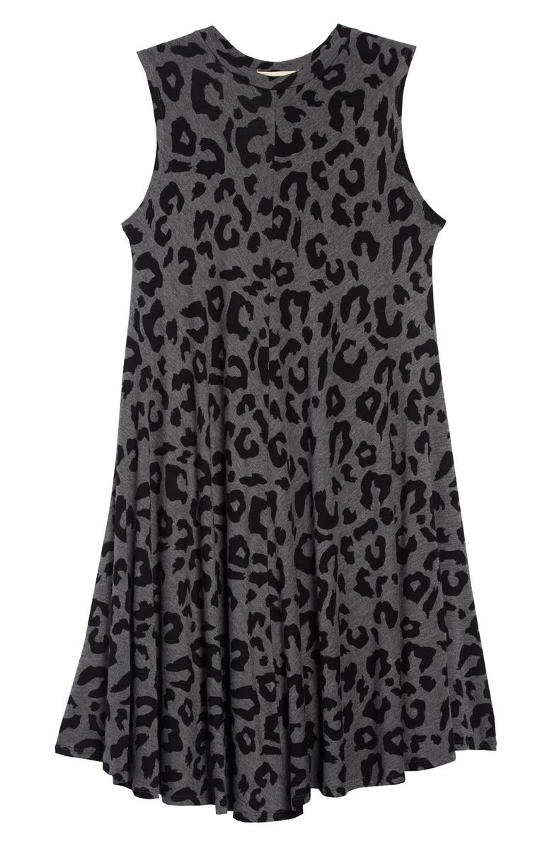 TUCKER + TATE Print Sleeveless Knit Dress, Main, color, GREY CHARCOAL HEATHER ANIMAL