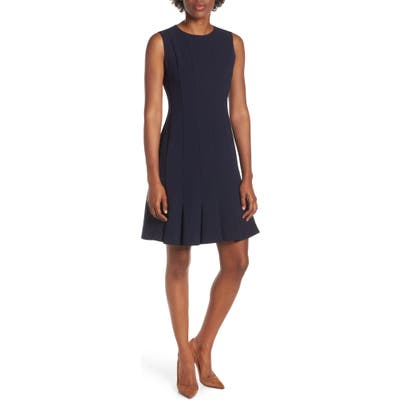 Julia Jordan Sleeveless Pleat Panel Fit & Flare Dress, Blue