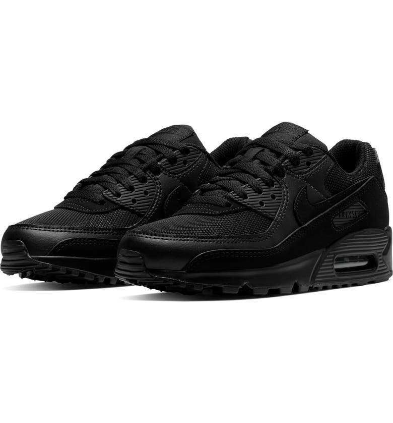 NIKE Air Max 90 Sneaker, Main, color, BLACK/ BLACK