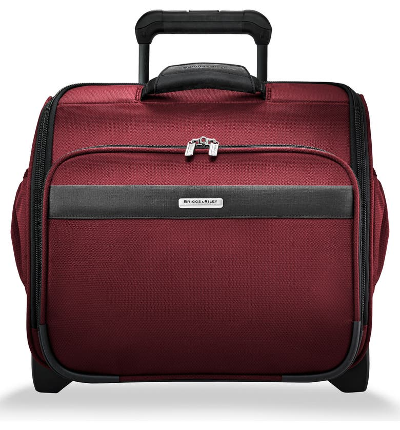 BRIGGS & RILEY Transcend 400 16-Inch Wheeled Cabin Bag, Main, color, MERLOT RED