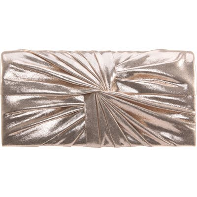 Nina Durham Twisted Knot Clutch - Metallic