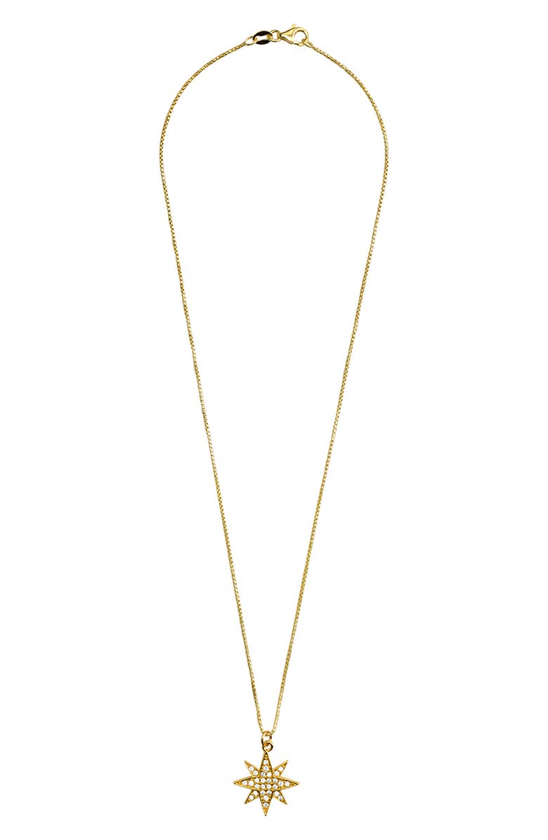 KAREN LONDON Selene Burst Pendant Necklace, Main, color, GOLD