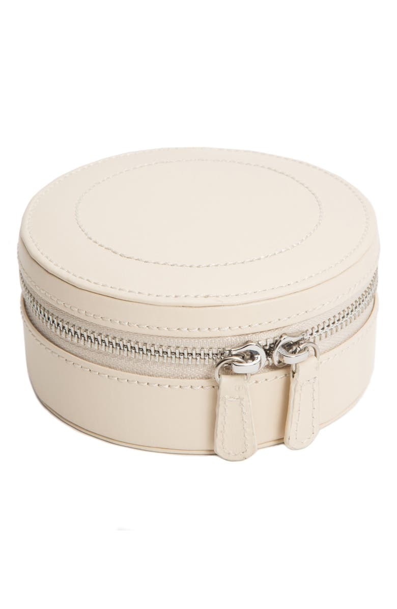 WOLF Sophia Round Zip Case, Main, color, IVORY