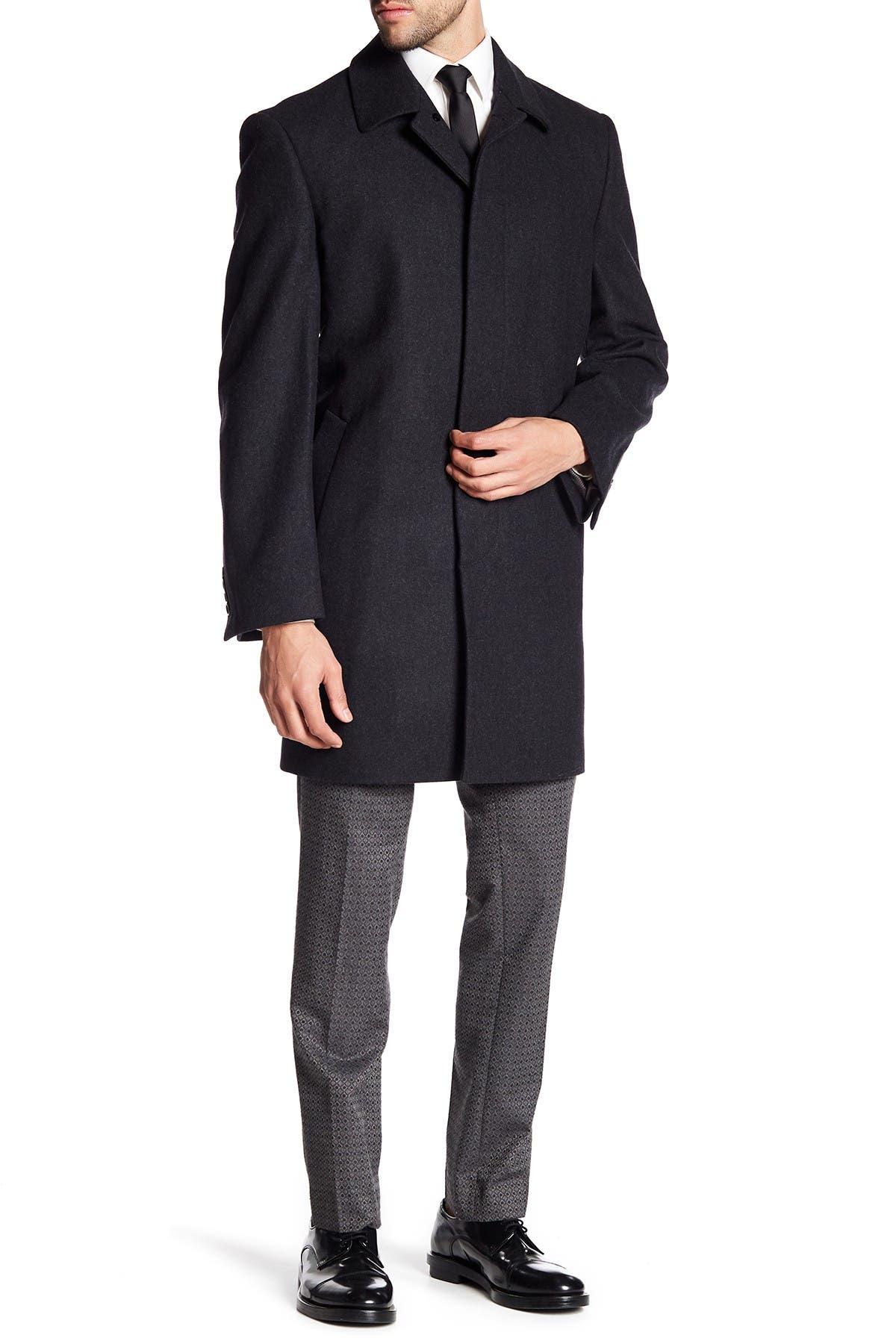 Image of Hart Schaffner Marx Wool Blend Topper Overcoat