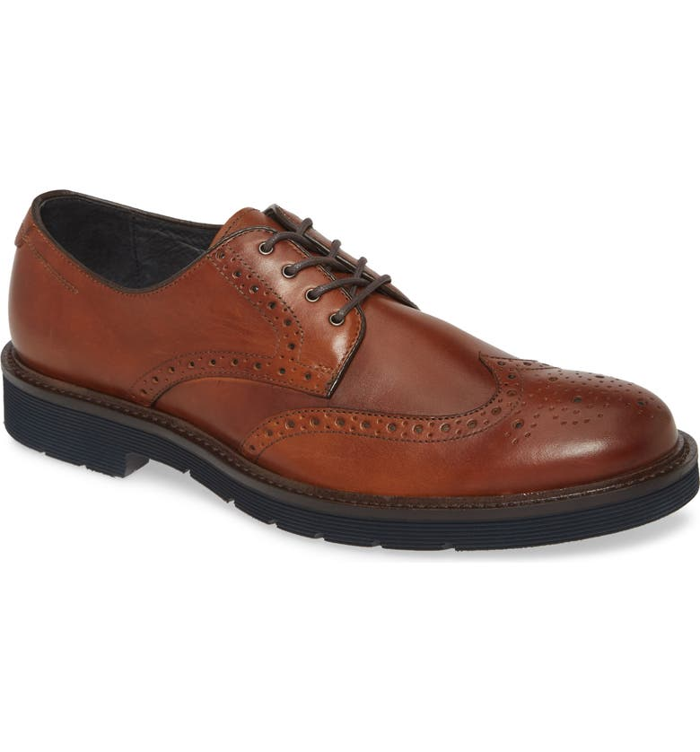 JOHNSTON & MURPHY Kinley Wingtip, Main, color, TAN