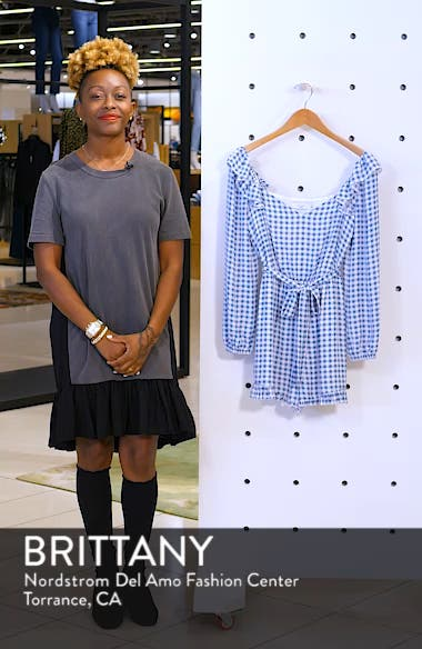 Lovely As Can Be Gingham Romper, sales video thumbnail