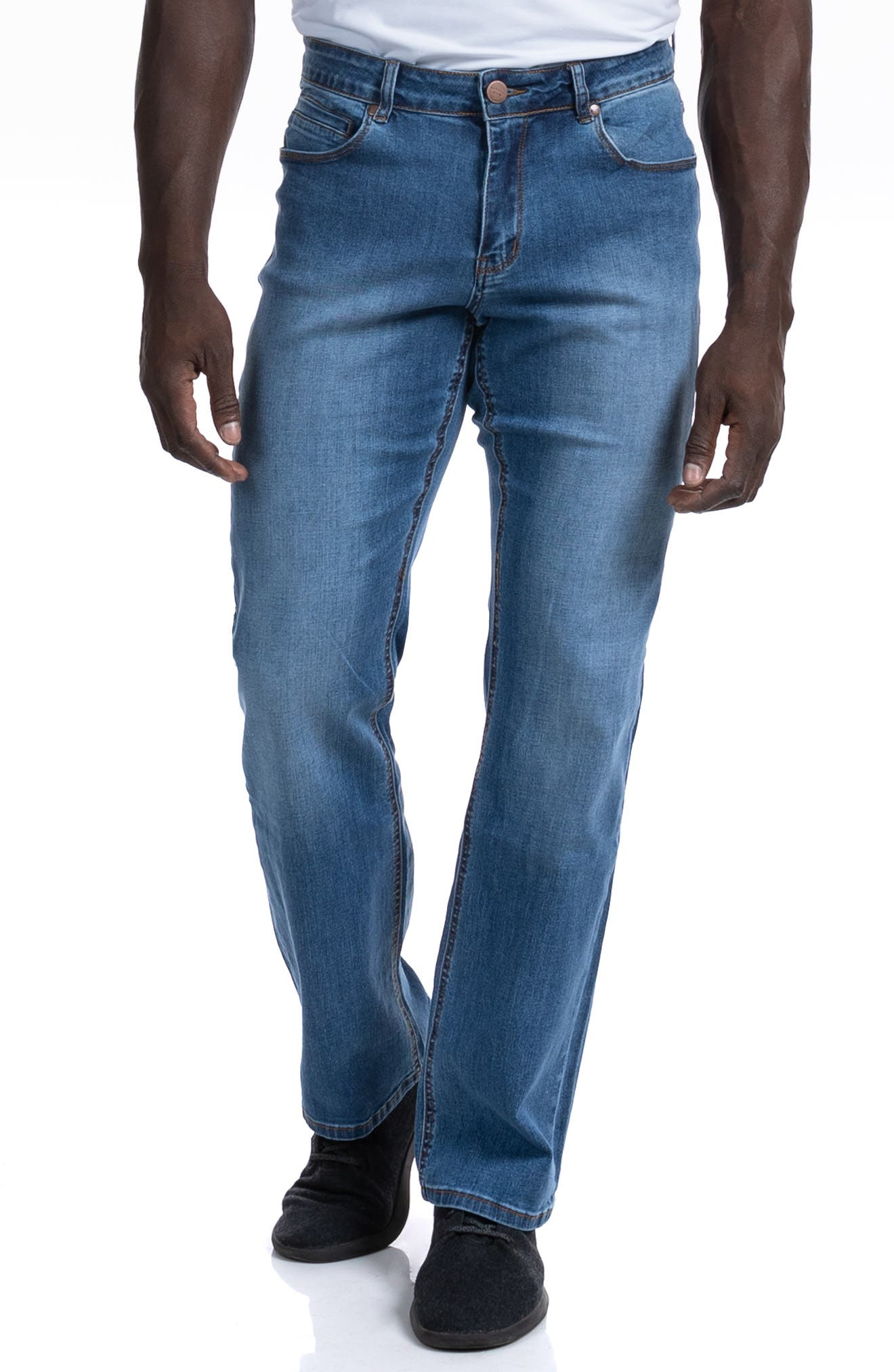 Relaxed Athletic Fit Jeans