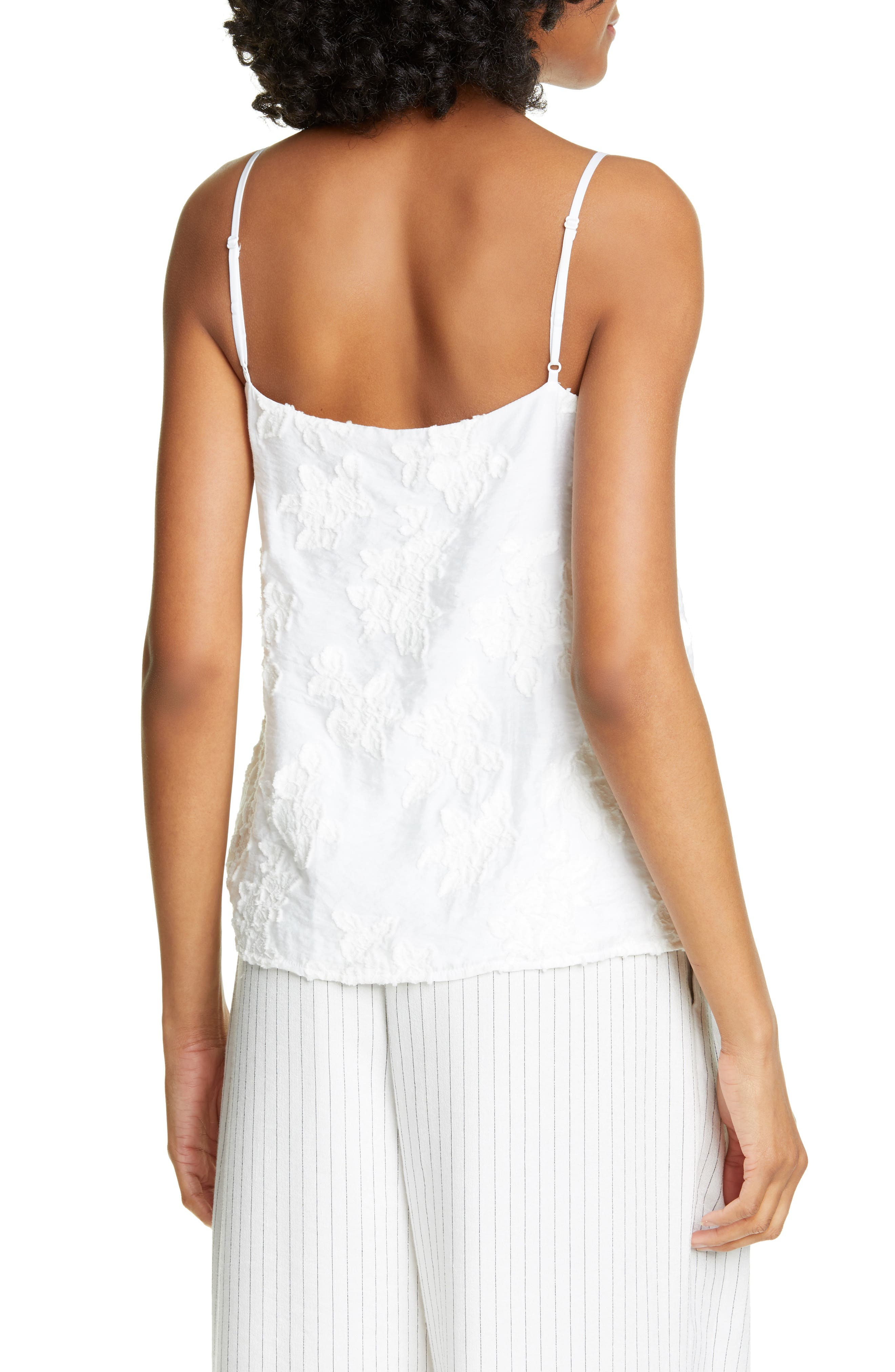 ,                             Textured Floral Camisole,                             Alternate thumbnail 2, color,                             OPTIC WHITE