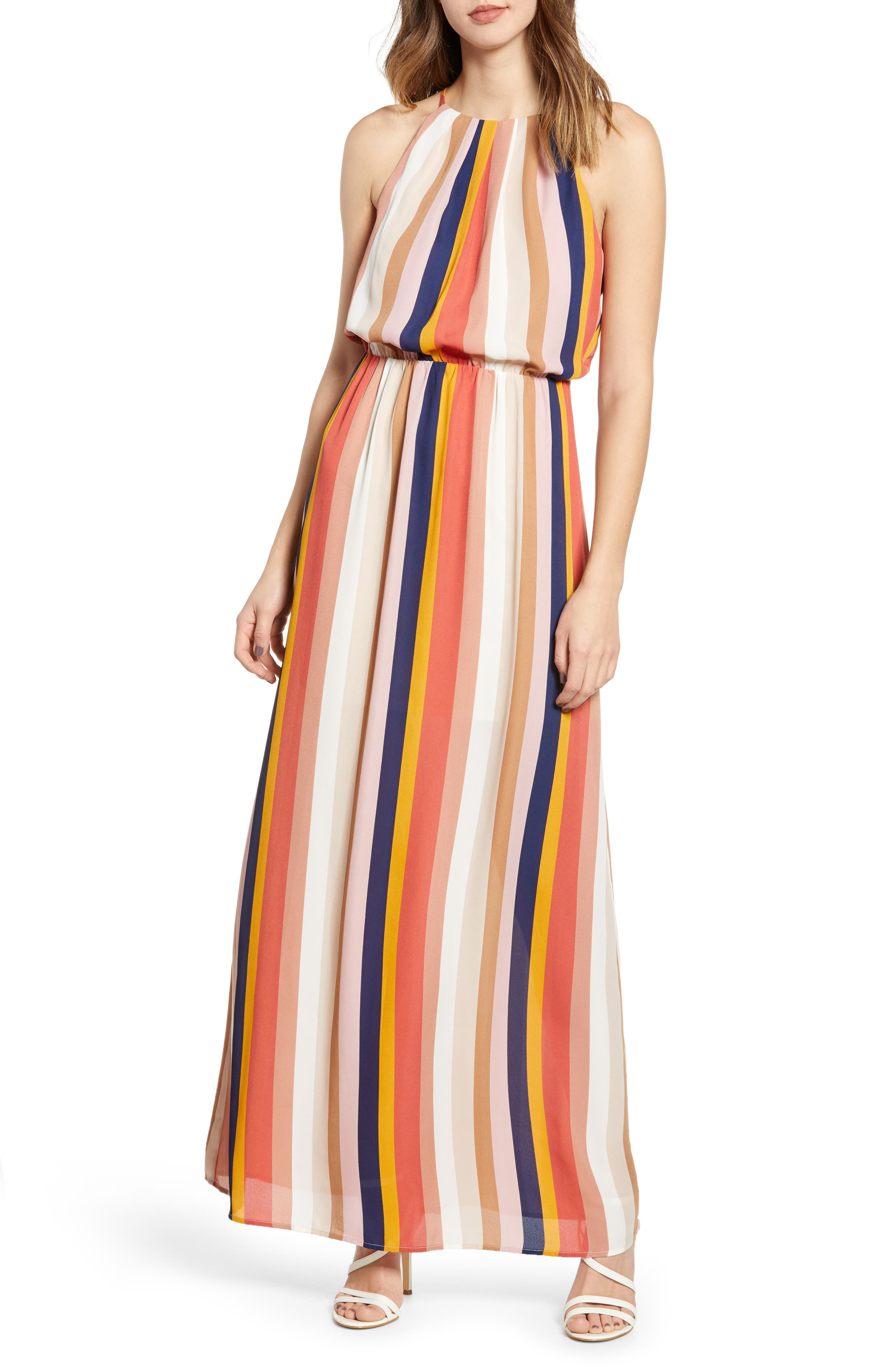 Blouson Maxi Dress, Main, color, 200