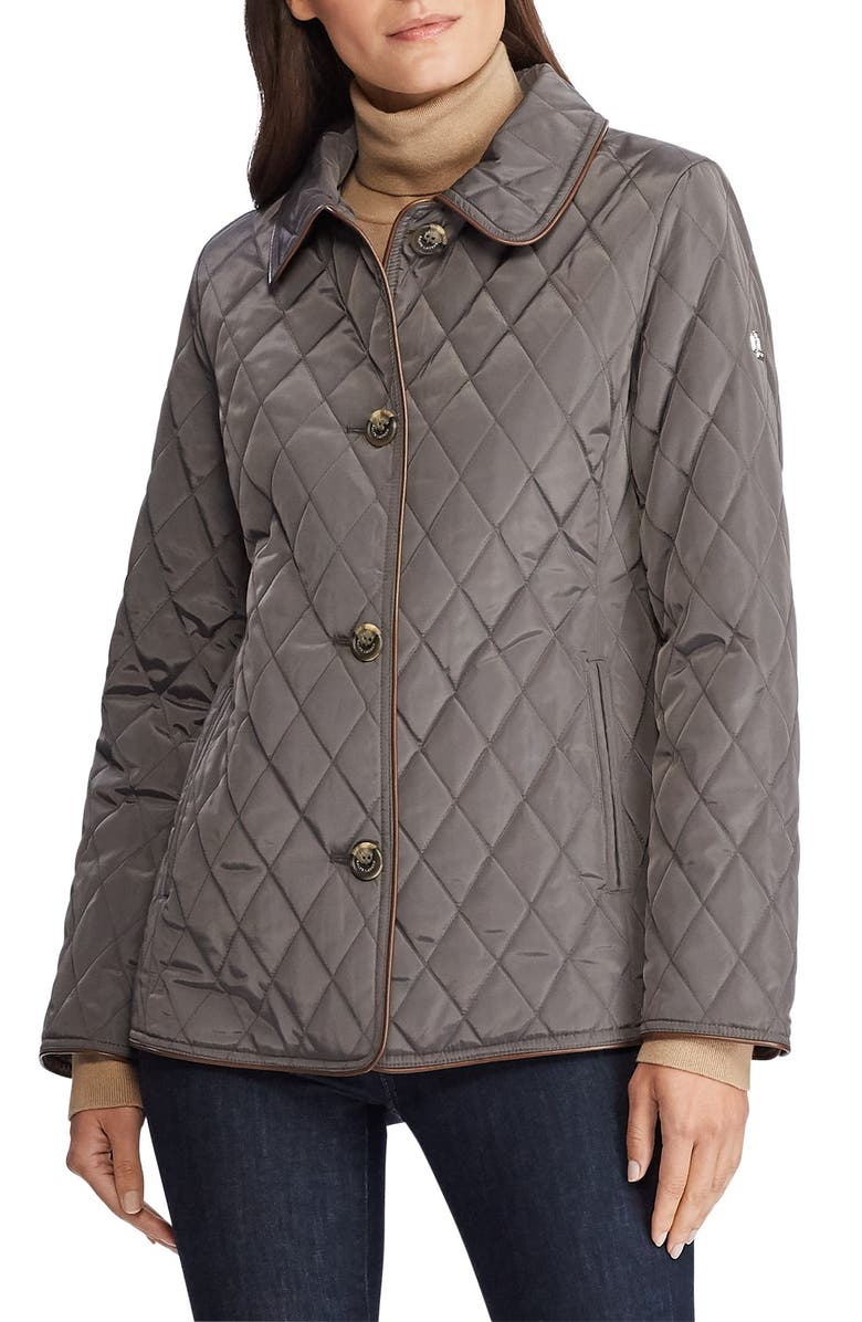 LAUREN RALPH LAUREN Quilted Jacket, Main, color, FLANNEL