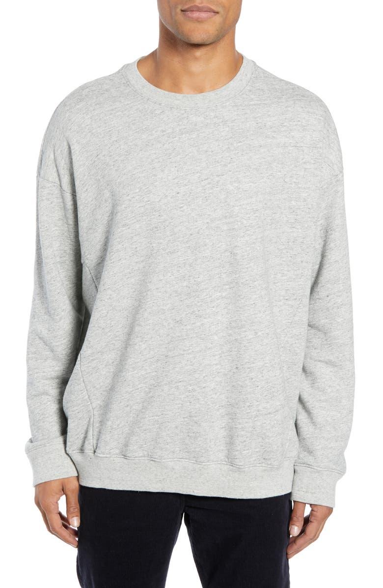 AG Archetype Slim Fit Sweatshirt, Main, color, HEATHER GREY