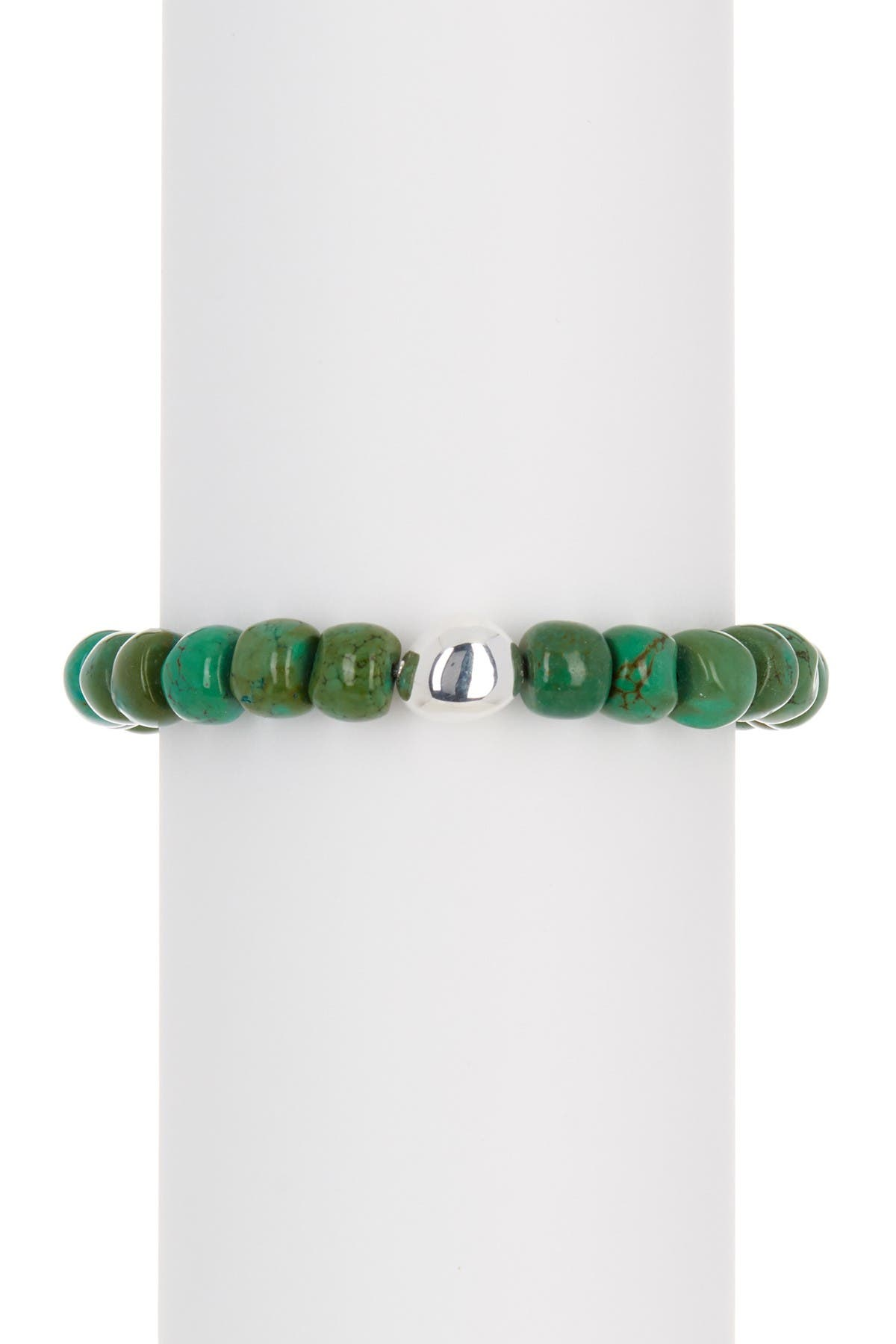 Image of SIMON SEBBAG Green Agate Stretch Bracelet