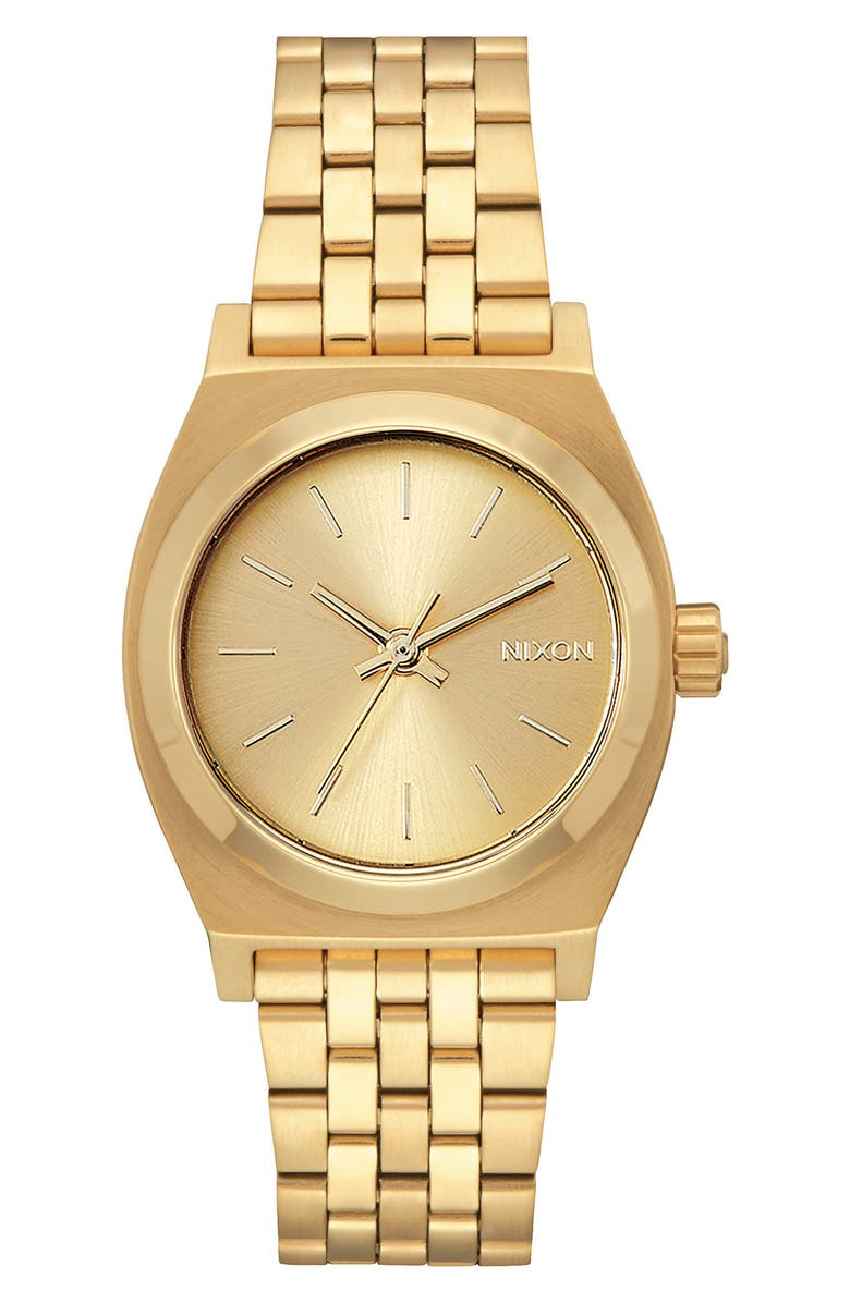 NIXON Time Teller Bracelet Watch, 31mm, Main, color, GOLD
