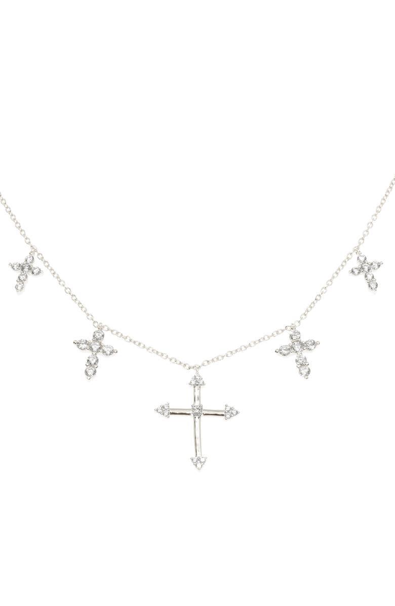 RAGEN JEWELS Five Cross Collar Necklace, Main, color, 040