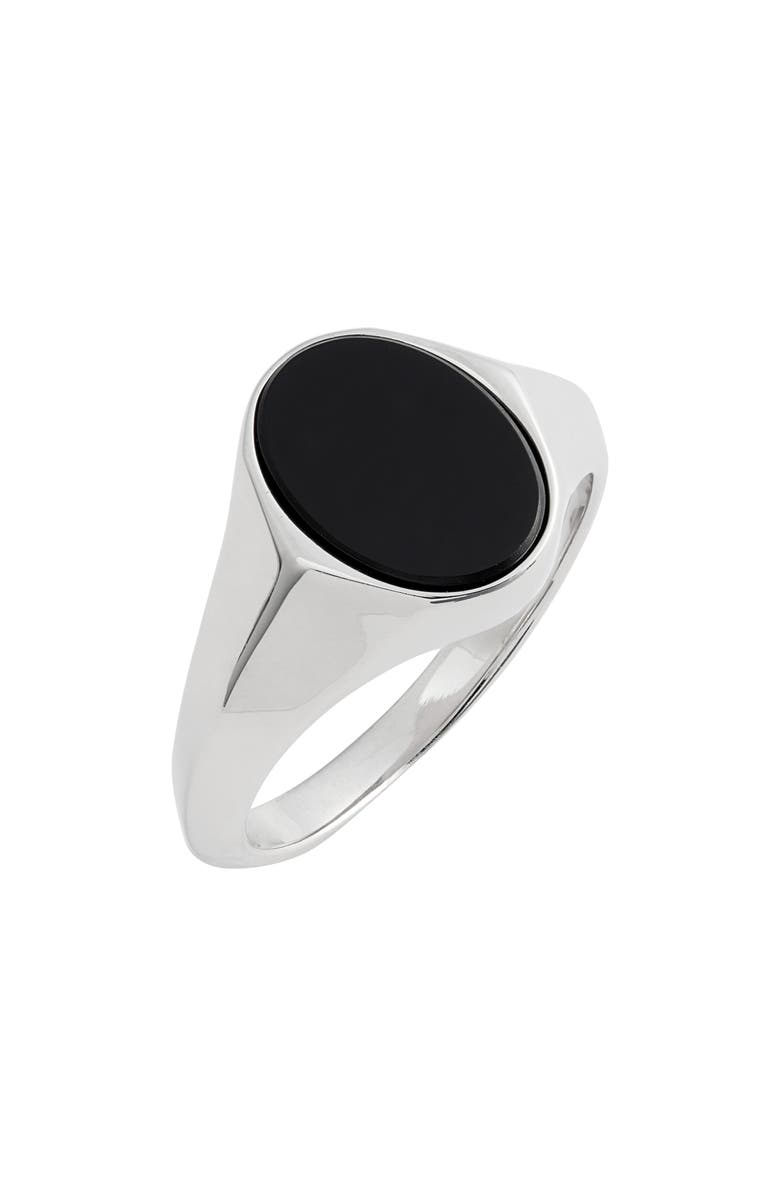 ALLSAINTS Large Oval Signet Ring, Main, color, 001