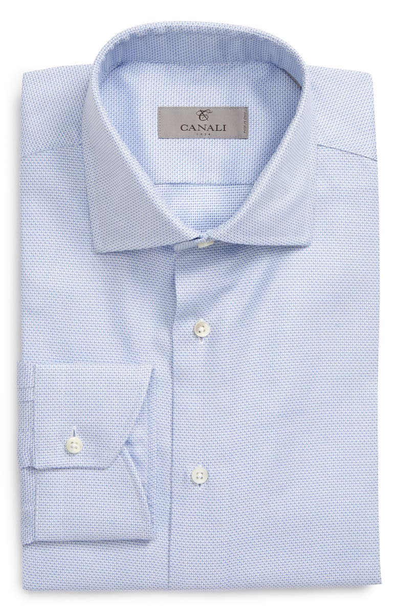 CANALI Slim Fit Solid Dress Shirt, Main, color, 400