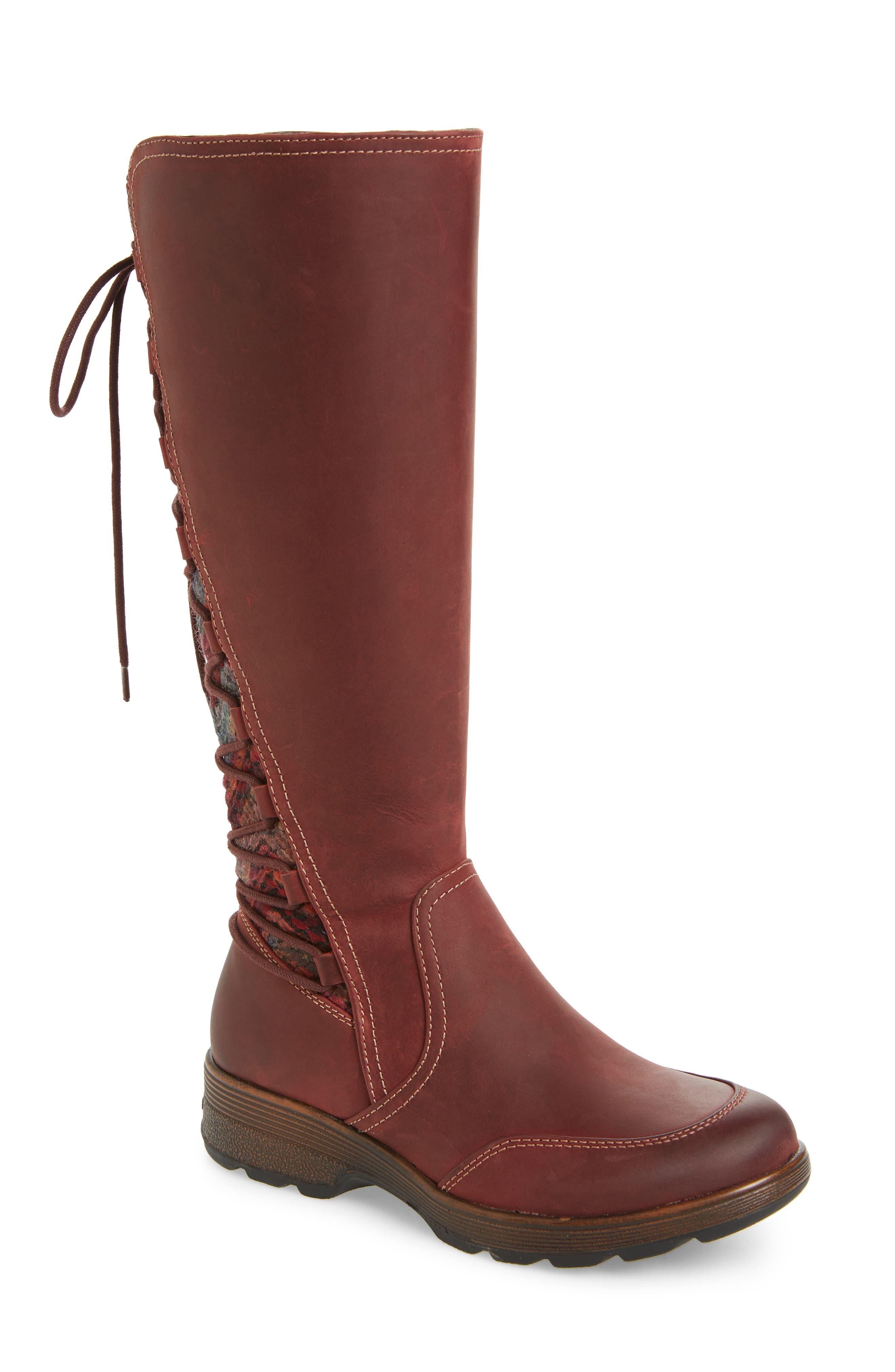 Bionica Epping Waterproof Knee High Boot, Burgundy