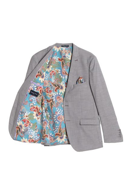 Image of Paisley & Gray Solid Slim Fit Two Button Notch Collar Jacket