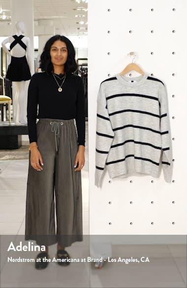 Harlow Classic Fit Stripe Crewneck Sweater, sales video thumbnail