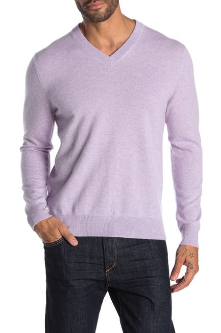 Image of Quinn Cashmere V-Neck Sweater