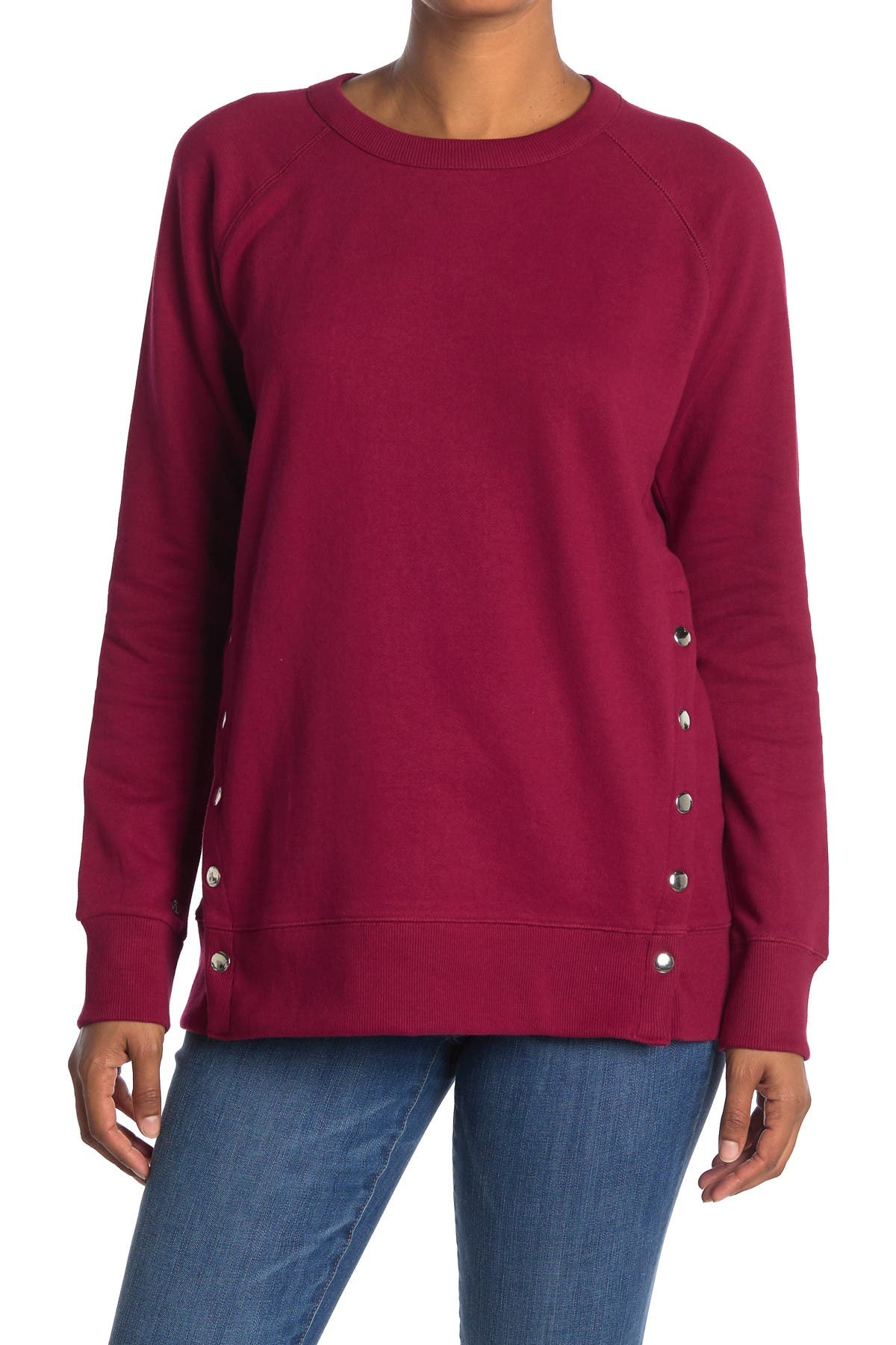 Image of JAG Jeans Kristen Snap Pullover Sweater
