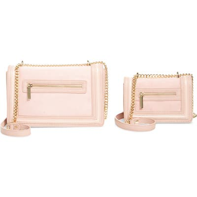 Mali + Lili Mommy & Me Vegan Leather Shoulder Bags - Pink