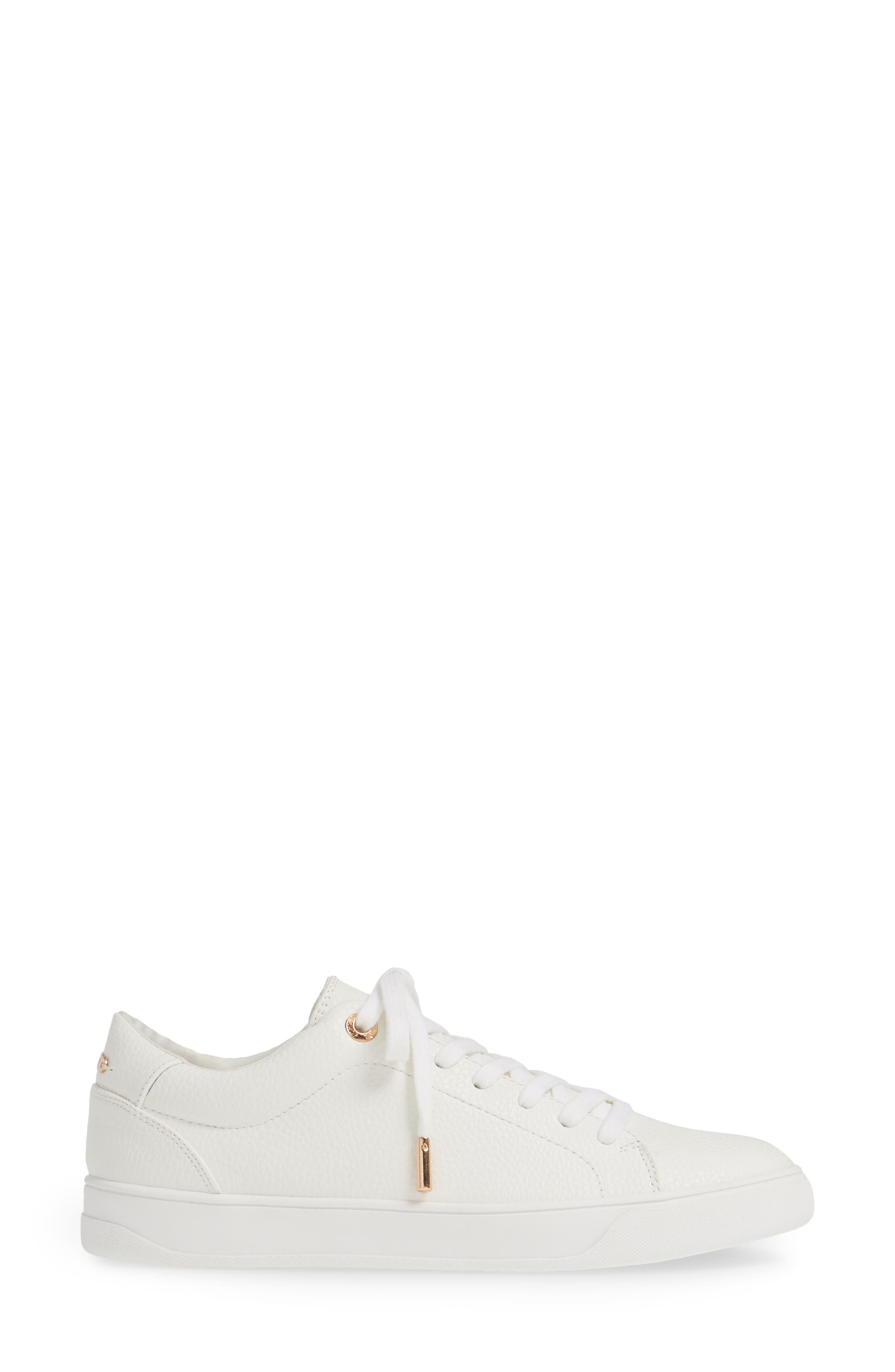 ,                             Curly Low Top Sneaker,                             Alternate thumbnail 3, color,                             WHITE