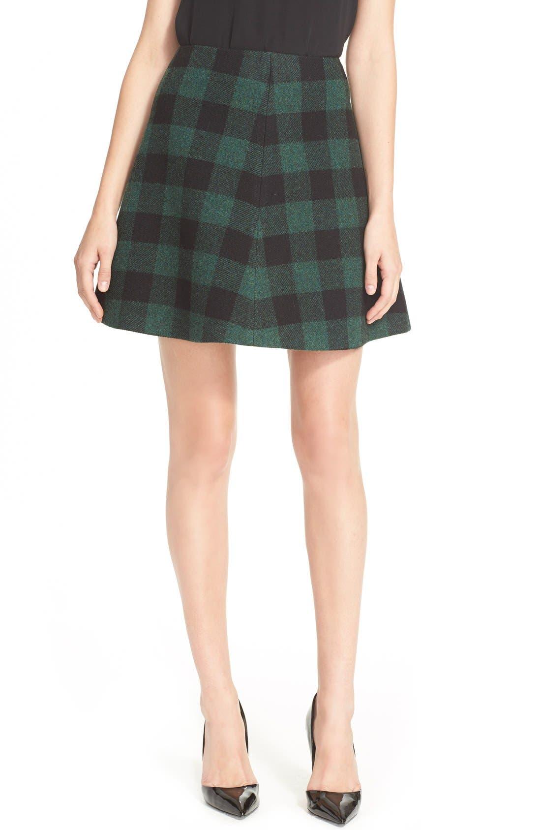 Buffalo Plaid Skirt, Main, color, 300