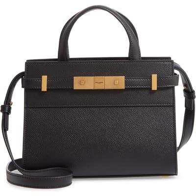 Saint Laurent Nano Manhattan Calfskin Crossbody Bag - Black