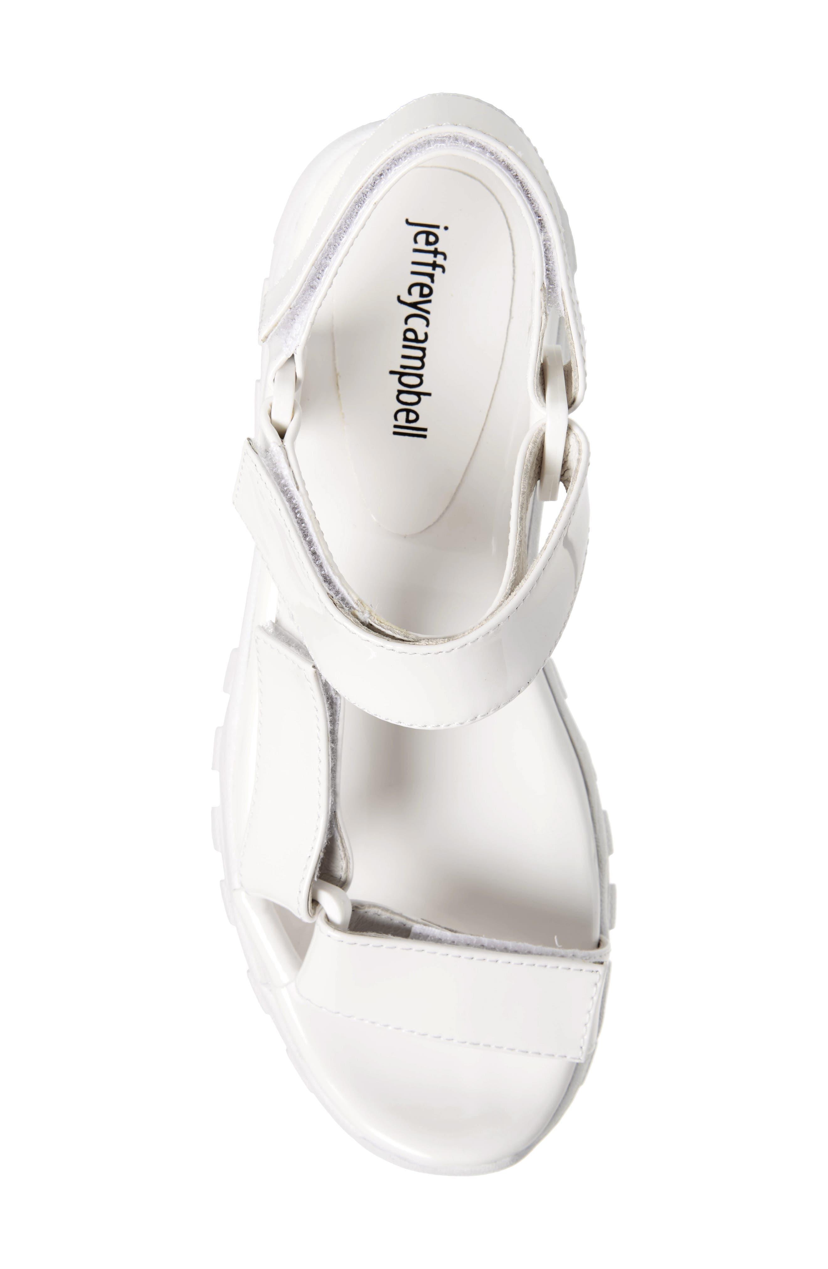 ,                             Patio Sport Sandal,                             Alternate thumbnail 5, color,                             WHITE PATENT LEATHER/ WHITE