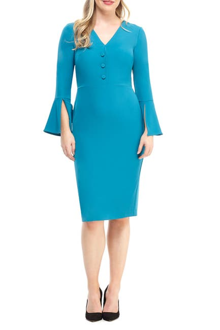 Image of Maggy London Libby Bell Sleeve Dress
