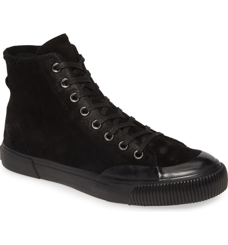 ALLSAINTS Dumount High Top Sneaker, Main, color, BLACK