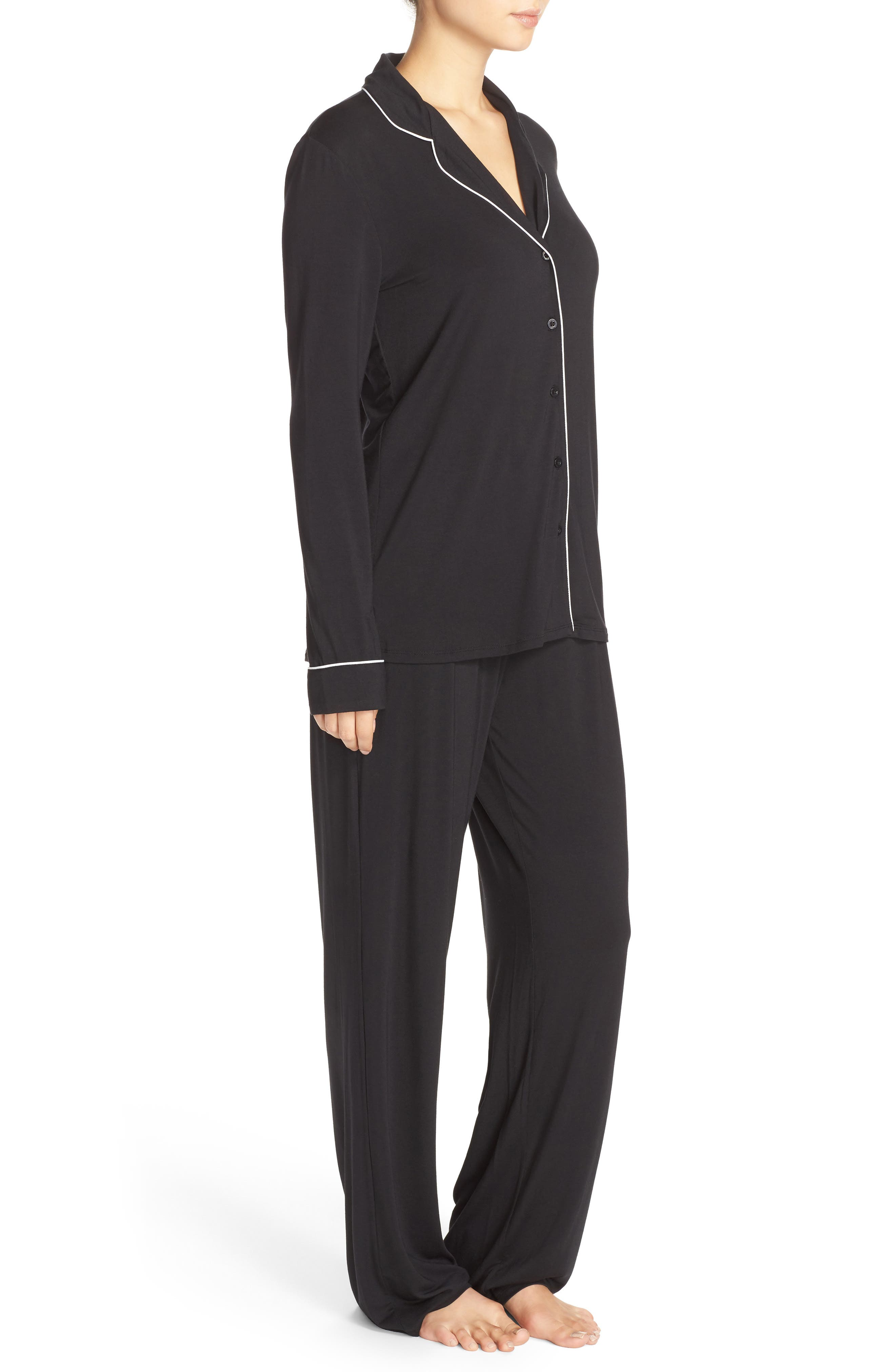,                             Moonlight Pajamas,                             Alternate thumbnail 3, color,                             BLACK