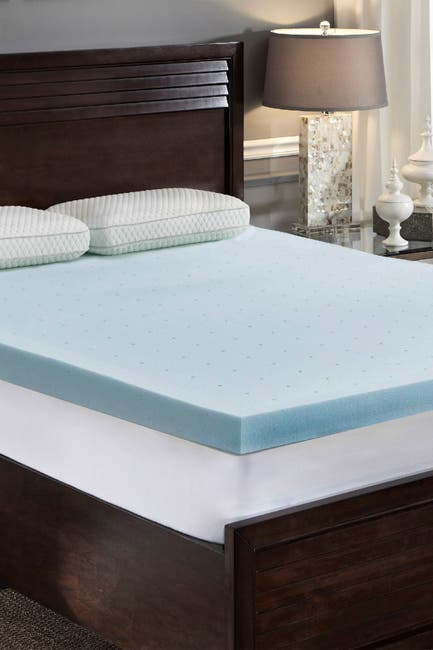 Image of Rio Home Loftworks Jelly Cool Memory Foam Full Mattress Topper - White