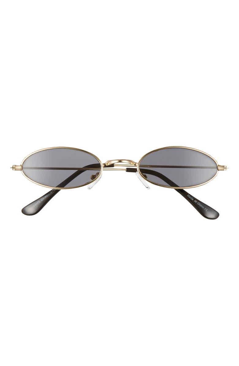 BP. 48mm Tiny Wire Oval Sunglasses, Main, color, GOLD