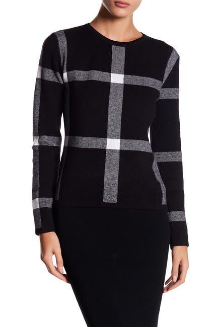 Image of Gracia Checkered Knit Top