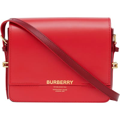 Burberry Small Grace Quilted Leather Shoulder Bag - Red