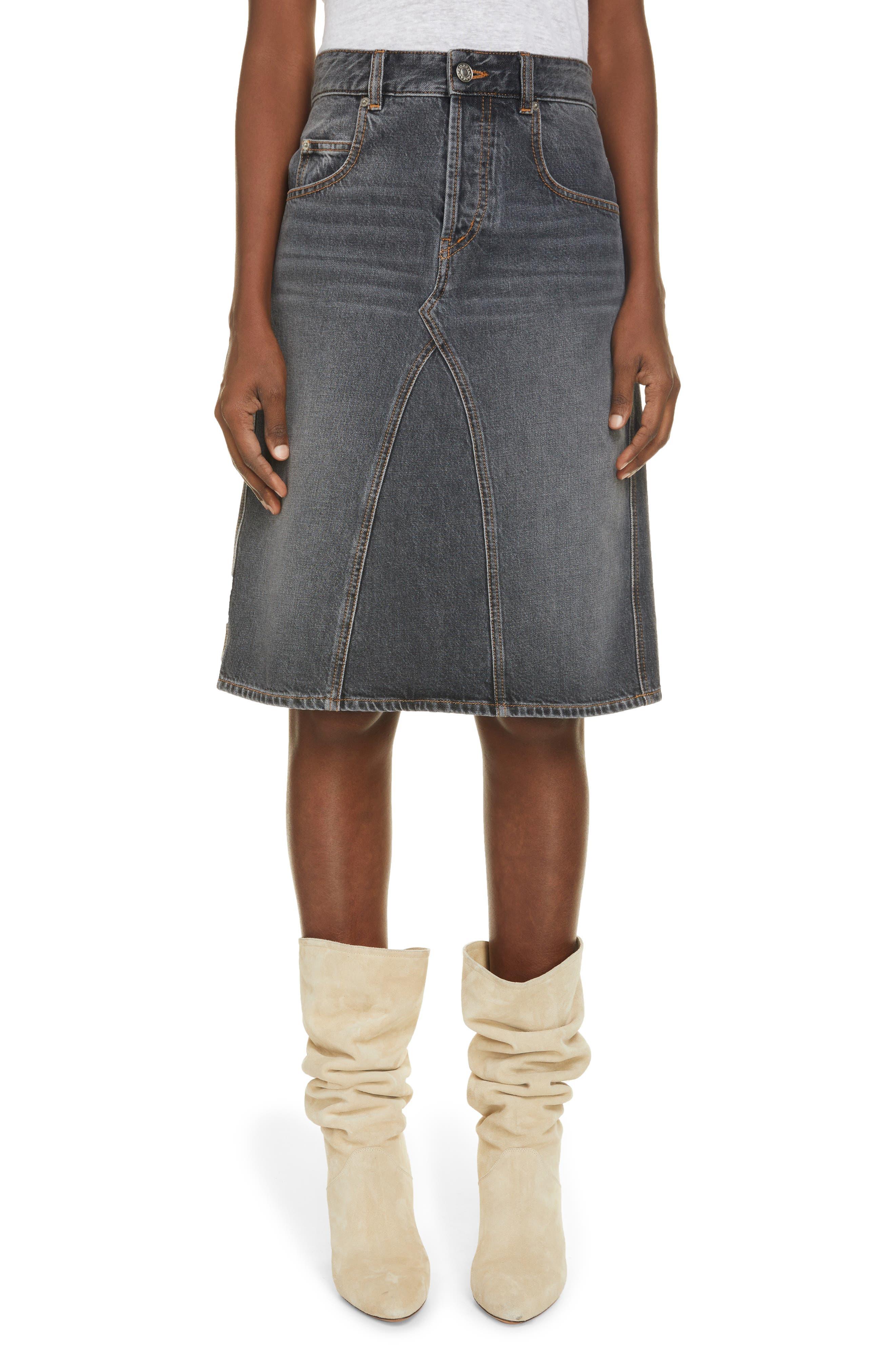 Women's Isabel Marant Etoile Fiali Denim Skirt