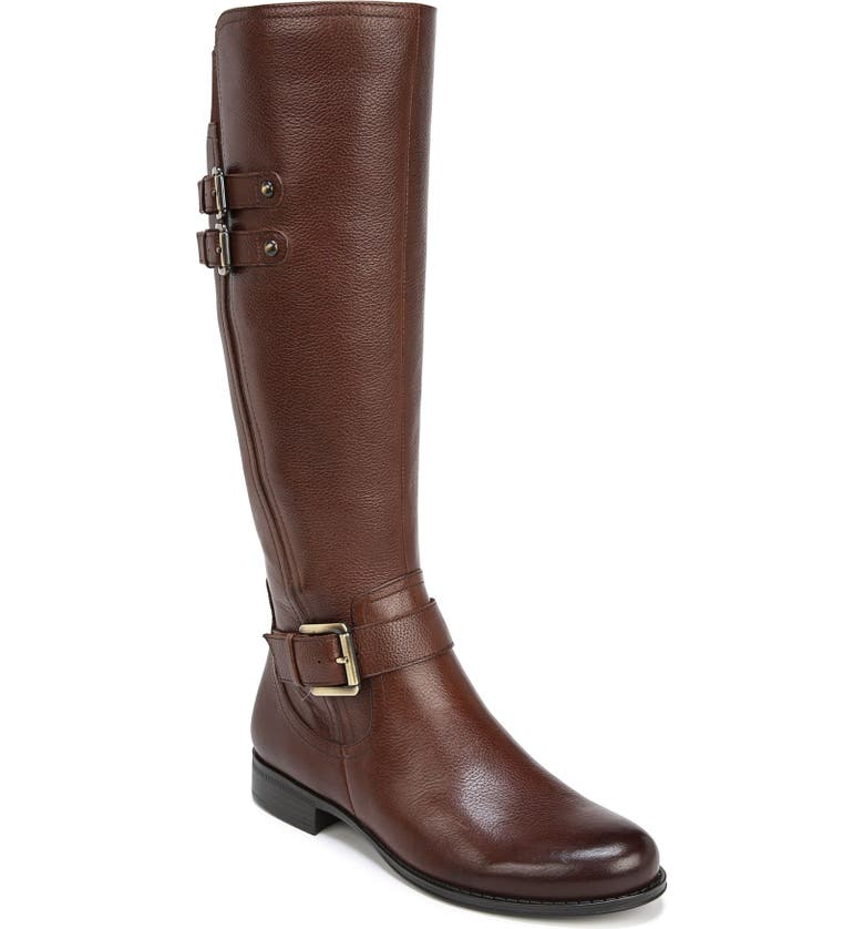 NATURALIZER Jessie Knee High Riding Boot, Main, color, CHOCOLATE LEATHER